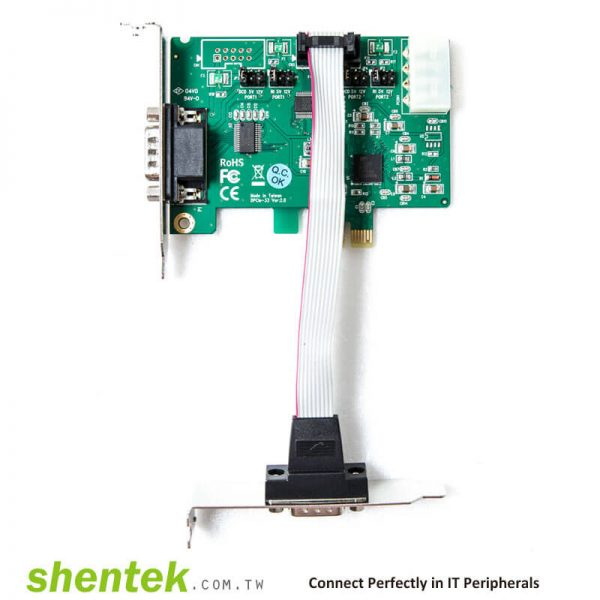 PCIe ESD 2 port RS232 Serial Card High Speed 921.6K 52001 shentek