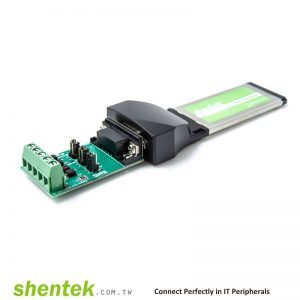 1 port High Speed RS-422/485 34mm ExpressCard, with 600W Surge Protection