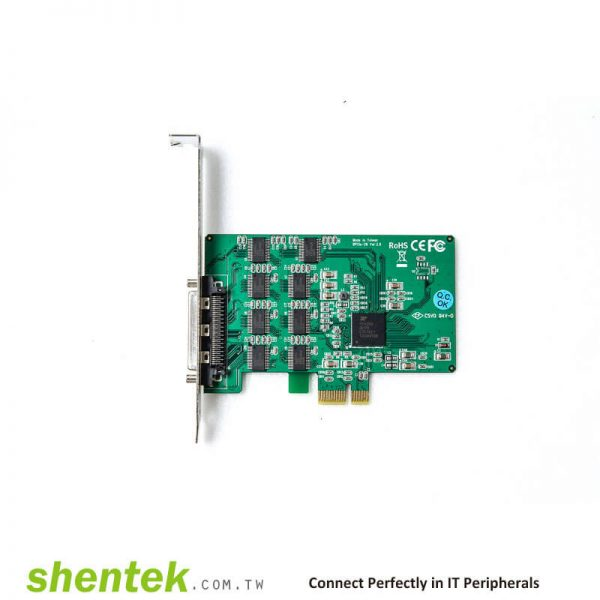 PCIe ESD 8 portRS232 Serial Card Standard Low Profile Bracket Manufactory in Taiwan shentek 52003