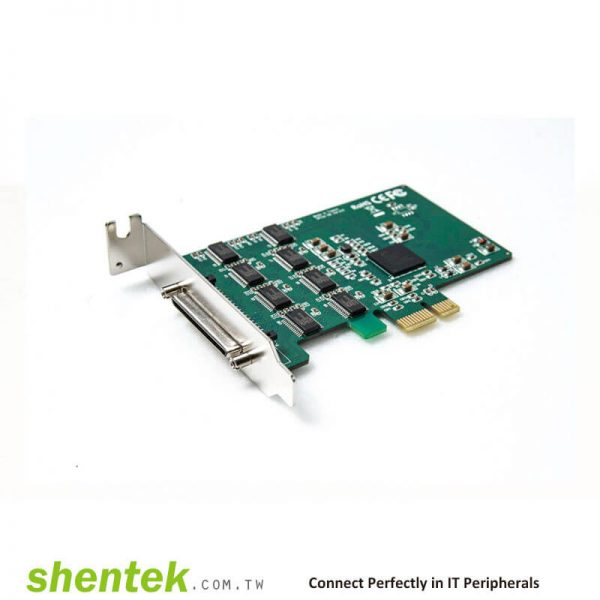 8 port High Speed Serial RS232 PCIe(PCI Express) card Standard and Low Profile Bracket shentek 52003