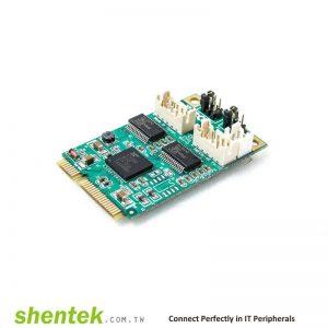 2 port High Speed Serial RS-232 Mini PCI Express(Mini PCIe) card support Pin9 - 5V/12V/RI Selectable Power I/O