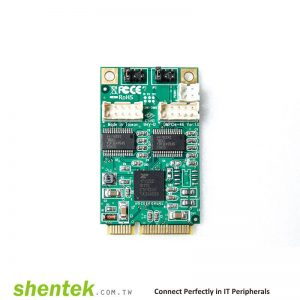 industrial embedded 2 port rs232 com port serial card mini pcie powered i o 5v 12v pin9