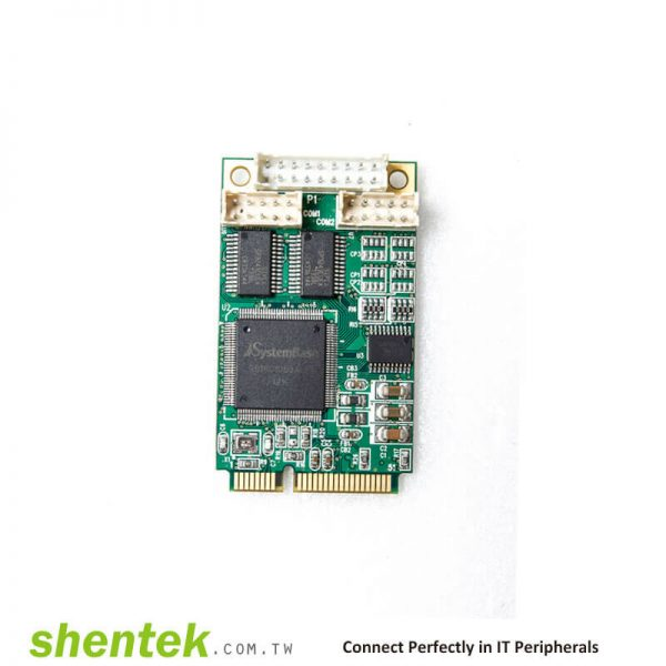 2 port High Speed Serial RS-232 + 1 port Parallel Mini PCI Express(mini PCIe) card compatibility mode, Nibble mode, Byte mode, EPP mode, and ECP mode