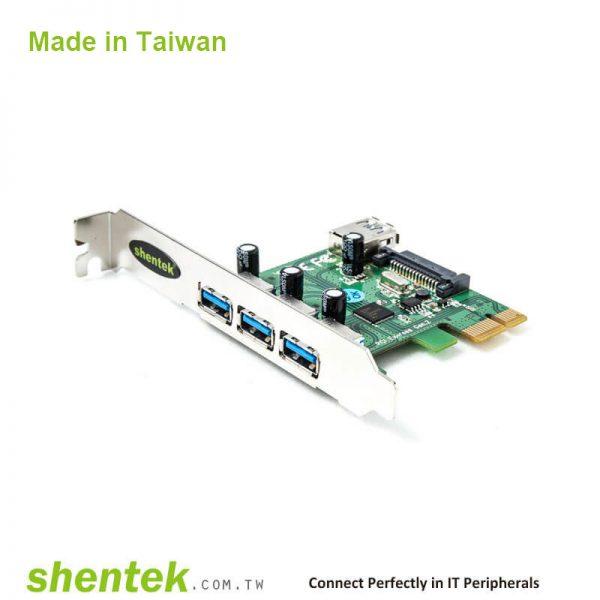3 port External + 1 port Internal SuperSpeed USB (USB3.1 GEN1 5G) PCI Express Card support Standard and Low Profile Bracket