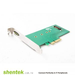 1 slot M key M.2(NGFF) Card PCI Express x 4 channel PCIe Card. Supports Standard and Low Profile Bracket