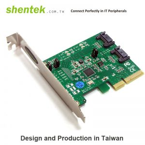2 port Internal SATA III 6G PCI Express x 2 lane Card with Hardware raid 0/1/. Supports Standard and Low Profile Bracket