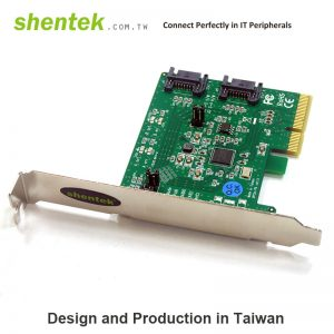 2 port Internal SATA III 6G PCI Express x 2 lane Card with Hardware raid 0/1/. Supports Standard and Low Profile Bracket