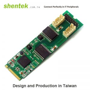 2 port Serial RS-422/485 M.2(NGFF) card + 2.5KV Isolation Protection