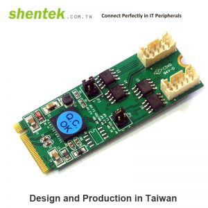 2 port High Speed Serial RS-422/485 M.2 card supports PCIe base M key slot 2260
