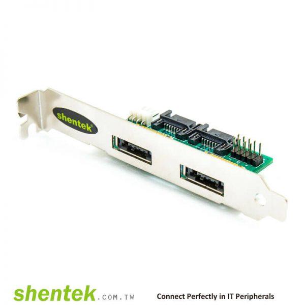 2 port Power eSATAp / USB2.0(Power Over eSATA, eSATA/USB) Adapter Card supports Dual Power 5V and 12V, Power over eSATA, Power eSATA, eSATA/USB Combo, eSATA USB Hybrid Port (EUHP)