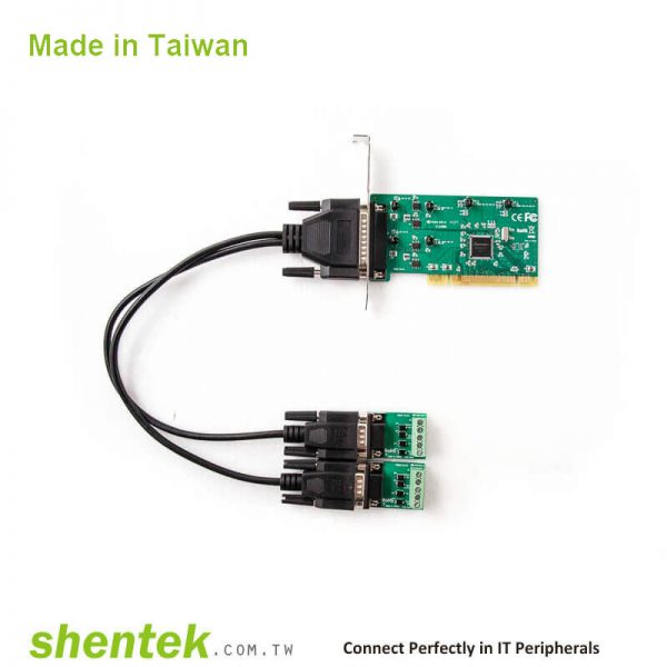 2 port High Speed Serial RS-422/485 Universal PCI card with 600W Surge and Standard and Low Profile Bracket