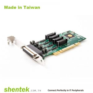 4 port High Speed Serial RS-422/485 Universal PCI card with 1.5KV Optical Isolation, 600W Surge and Standard and Low Profile Bracket