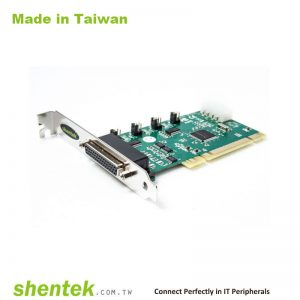 2 port High Speed Serial RS-232 + 1 port Parallel Universal PCI card support Pin1 – 5V/12V/DCD, Pin9 - 5V/12V/RI Selectable and Standard and Low Profile Bracket