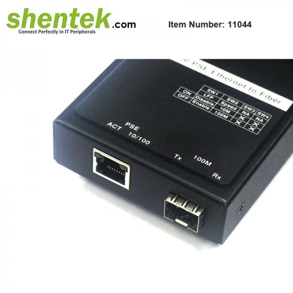 shentek-11044-ethernet-to-SFP-Fiber-Converter-PSE