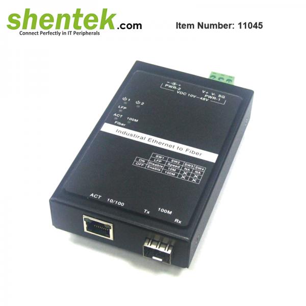shentek-11045-10-100-ethernet-to-SFP-Fiber-Converter