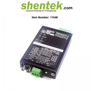 RS232 RS422 RS485 to Fiber Converter Industrial 11046 shentek