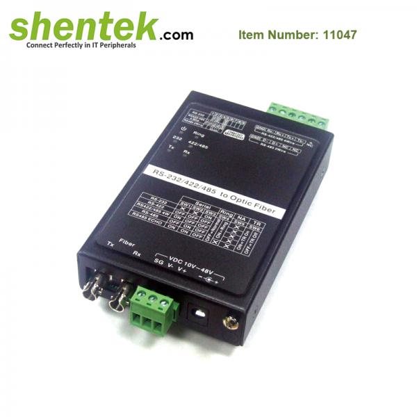RS232 RS422 RS485 to Fiber Converter 11047 shentek