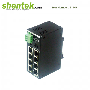 8 port 10 100 Ethernet unmanaged switch industrial 11049
