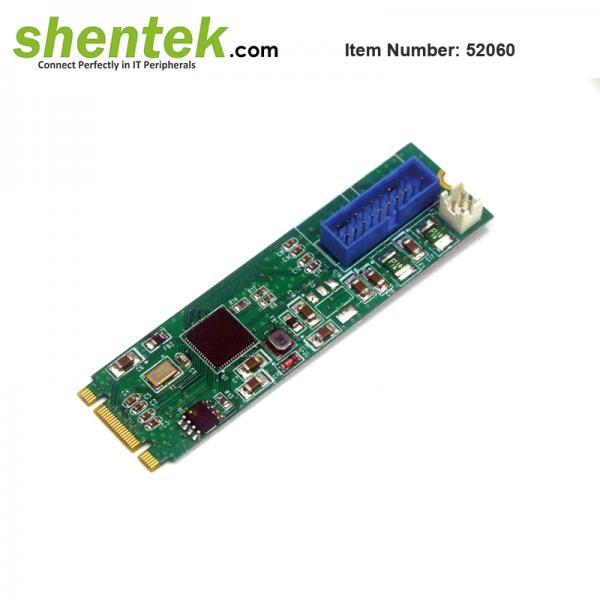 embedded addon card 2 port USB 3.1 Gen2 10G M.2 Card