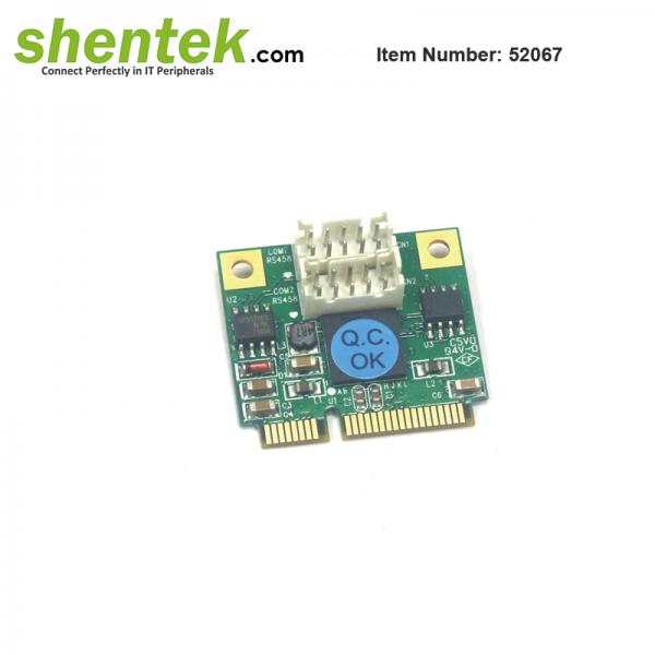 shentek-52067-2-port-RS485-Mini-PCIe-Card
