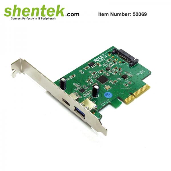shentek-52069-USB-C-USB-A-USB-3.1-Gen2-10G-PCIe-Card