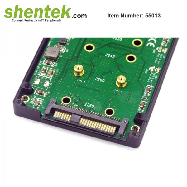 shentek-55013-2-slot-B-key-SATA-express-Adapter