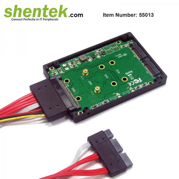 shentek-55013-2-slot-SATA-SSD-to-SATA-express-HDD-Adapter