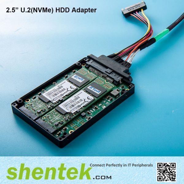 "2.5"" U.2 NVMe HDD Adapter 2 slot B key Hardware raid 0/1"