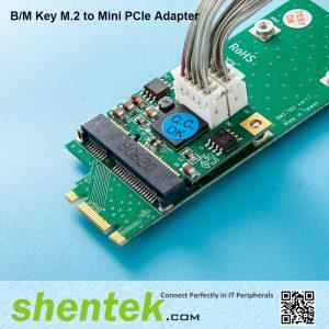 B M key M.2 to Mini PCIe Card adapter